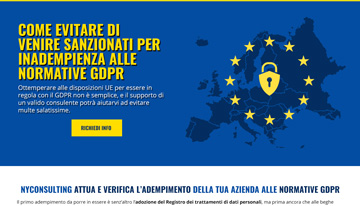 landing page per consulenze GDPR
